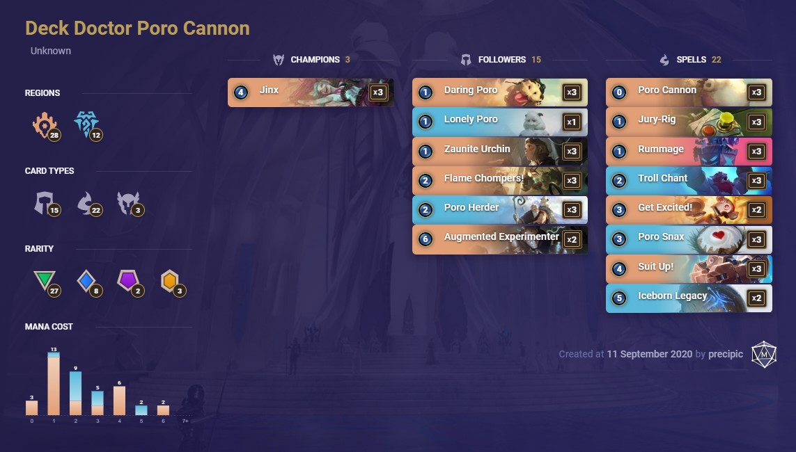 deck doctor poro cannon list