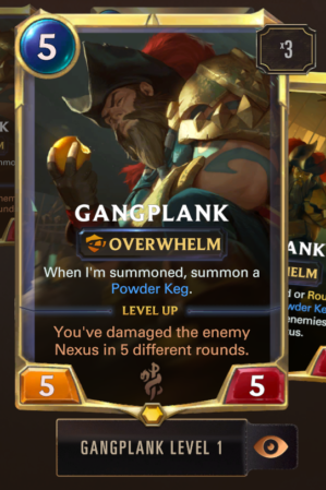gangplank level 1 in game
