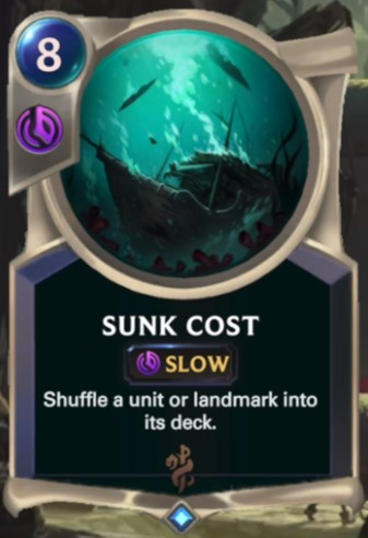 sunk cost reveal